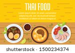 tasty thai food concept banner. ... | Shutterstock .eps vector #1500234374