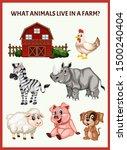 children educational game. what ...   Shutterstock .eps vector #1500240404