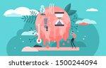 melting earth vector... | Shutterstock .eps vector #1500244094