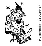 pointing clown   retro clip art ... | Shutterstock .eps vector #150024467