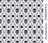 day of the dead seamless... | Shutterstock .eps vector #1500249311