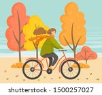 woman character wearing warm... | Shutterstock .eps vector #1500257027