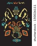 aztec wolf vector | Shutterstock .eps vector #150026111