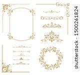 set of vintage elements. frames ... | Shutterstock . vector #1500261824