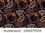 hand drawn autumn elements...   Shutterstock .eps vector #1500279554
