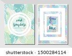 card template pastel color... | Shutterstock .eps vector #1500284114