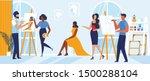 art school master class flat... | Shutterstock .eps vector #1500288104