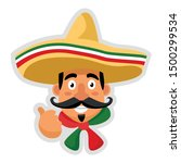 cute cartoon mexican chef... | Shutterstock .eps vector #1500299534