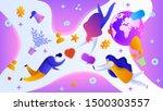 digital marketing design...   Shutterstock .eps vector #1500303557