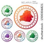 belarus badge. colorful... | Shutterstock .eps vector #1500306821