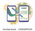 electronic contract or digital... | Shutterstock .eps vector #1500309224