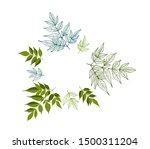 floral design frame with leaves ... | Shutterstock .eps vector #1500311204