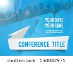 conference tamplate... | Shutterstock .eps vector #150032975