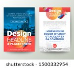 blue and red brochure cover... | Shutterstock .eps vector #1500332954