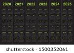 year 2020 2021 2022 2023 2024... | Shutterstock .eps vector #1500352061