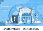 osteoporosis concept ... | Shutterstock .eps vector #1500361007