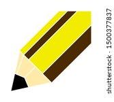flat illustration of pencil...   Shutterstock .eps vector #1500377837