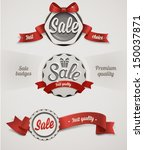 vector sale badges | Shutterstock .eps vector #150037871