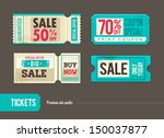 vector sale tickets | Shutterstock .eps vector #150037877