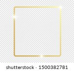 gold shiny glowing frame with... | Shutterstock .eps vector #1500382781