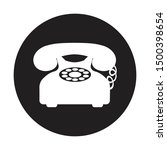 telephone icon in black circle... | Shutterstock .eps vector #1500398654