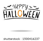 happy halloween with bat and... | Shutterstock .eps vector #1500416237