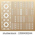 laser cut vector panels  ratio...   Shutterstock .eps vector #1500430244