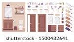 restroom interior and water... | Shutterstock .eps vector #1500432641