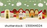 seamless houses  | Shutterstock .eps vector #150044024