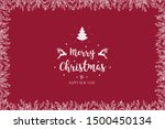 christmas branches border with...   Shutterstock .eps vector #1500450134