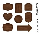 wooden sticker  label  sign... | Shutterstock .eps vector #1500487574