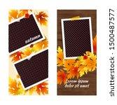 editable autumn social network... | Shutterstock .eps vector #1500487577