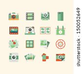photography icons  | Shutterstock .eps vector #150052649