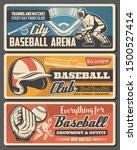 baseball sport retro vector....   Shutterstock .eps vector #1500527414