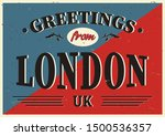 vintage touristic greeting card ... | Shutterstock .eps vector #1500536357