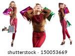 studio shot of beautiful girl... | Shutterstock . vector #150053669