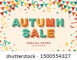 autumn sale advertisement... | Shutterstock .eps vector #1500554327