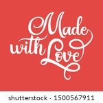made with love black... | Shutterstock .eps vector #1500567911