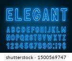 neon elegant blue font  light... | Shutterstock .eps vector #1500569747