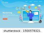marketing vector illustration...