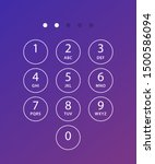 phone keypad. keyboard template ...