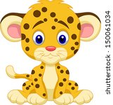 cute leopard cartoon | Shutterstock .eps vector #150061034