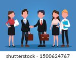 group of business men and women ... | Shutterstock .eps vector #1500624767