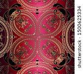 Silk Paisley Vector Seamless...