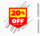 20  off limited time sale web... | Shutterstock .eps vector #1500631007