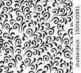 ornamental pattern. vector... | Shutterstock .eps vector #1500633881