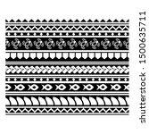 polynesian  ethnic seamless... | Shutterstock .eps vector #1500635711
