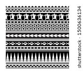 maori print ornament background ... | Shutterstock .eps vector #1500636134