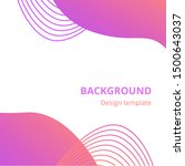 modern abstract background set. ... | Shutterstock .eps vector #1500643037