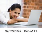 businesswoman in office with... | Shutterstock . vector #15006514